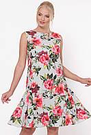 Платье большого размера Настя 50-56, красивое, фото 1