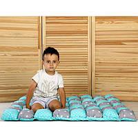 Игровой коврик бон-бон «Мерцание звезд» (мятный/серый) 110х110 (700020)