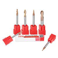 DrillproR0.5-3mm2Флейтовыйшариковыйнос HRC58 AlTiN Обрезной фрезерный станок для фрезерования карбида вольфрама CNC Инструмент - 1TopShop