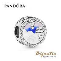 Pandora шарм ПОЛЁТ НА ВОЗДУШНОМ ШАРЕ #798061CZ серебро 925 Пандора оригинал