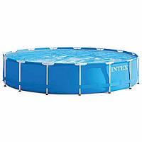 Круглый каркасный бассейн Intex 28240 (457 x 84 см) Metal Frame Pool, фото 1