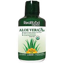 "Алоэ вера Country Life, Realfood Organics ""Aloe Vera Plus"" в жидкой форме (944 мл)"