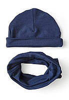 """Детский набор: шапочка со снудом """"Джинс"""", фото 1"""