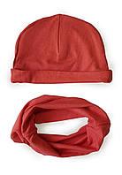 "Детский набор: шапочка со снудом ""Коралл"", фото 1"