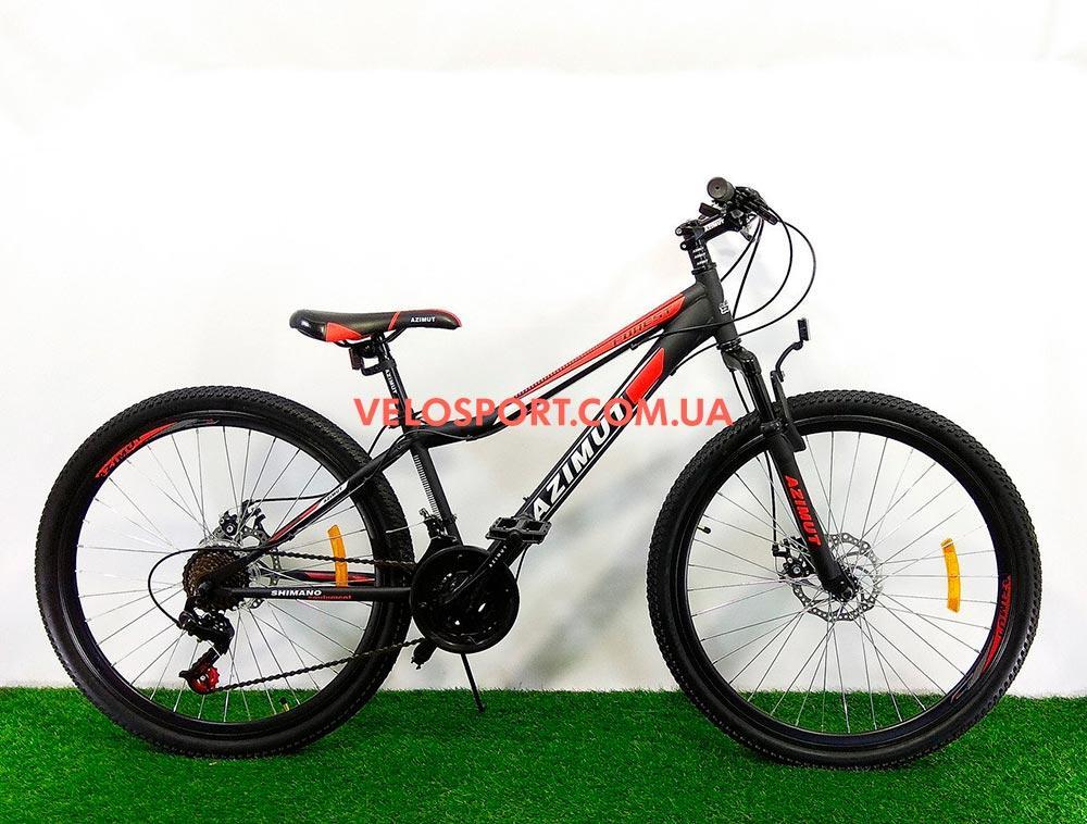 Горный велосипед Azimut Forest 26 GD черно-красный