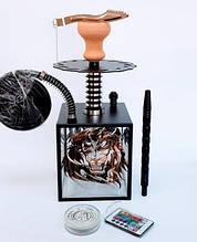Кальян Hookah Box Lion Лев высота 42 см  Кальян для кафе кальян на 1 персону