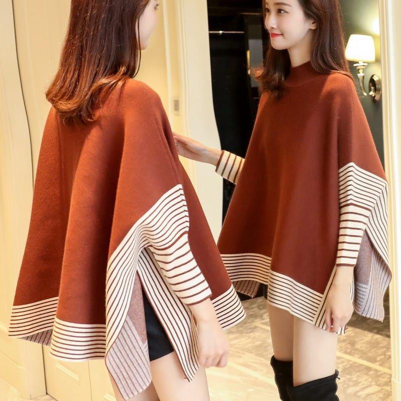 Женское Новые модные свитера в полоску с цветочным принтом - 1TopShop