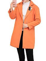 Женские повседневные аппликации Пальто с пуговицами с отложным воротником Верхняя одежда - 1TopShop, фото 3