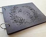 Весільна книга побажань з дерева, фото 3