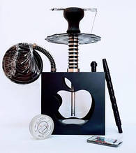 Кальян Hookah Box Apple Яблоко высота 42 см Кальян для кафе кальян на 1 персону черный