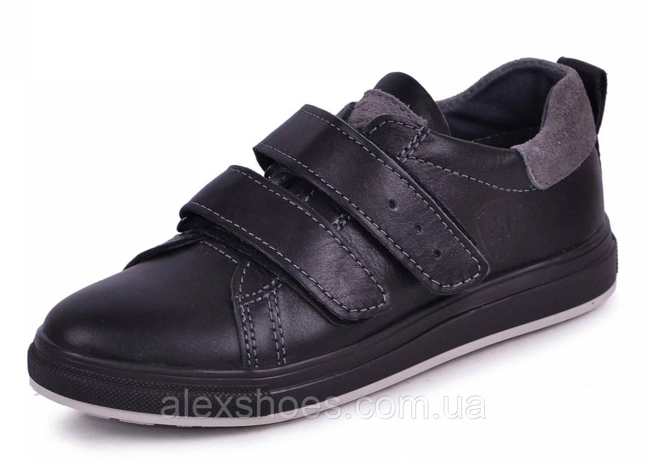 Туфли подростковые для мальчика из натуральной кожи от производителя модель МАК288