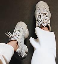 Мужские и женские кроссовки Adidas Yeezy Boost 500 Blush, фото 3