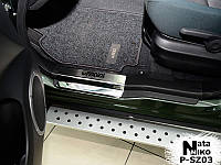 Suzuki Grand Vitara Накладки на пороги Натанико премиум