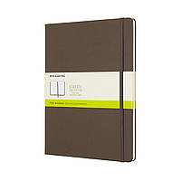 Блокнот Moleskine Classic Большой (19х25 см) 192 страницы Нелинованный Коричневый (8058341716106), фото 1