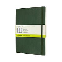 Блокнот Moleskine Classic Большой (19х25 см) 192 страницы Нелинованный Миртовый Зеленый Мягкий (8053853600066), фото 1