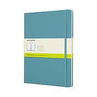Блокнот Moleskine Classic Большой (19х25 см) 192 страницы Нелинованный Океанский Синий (8058341716083), фото 1