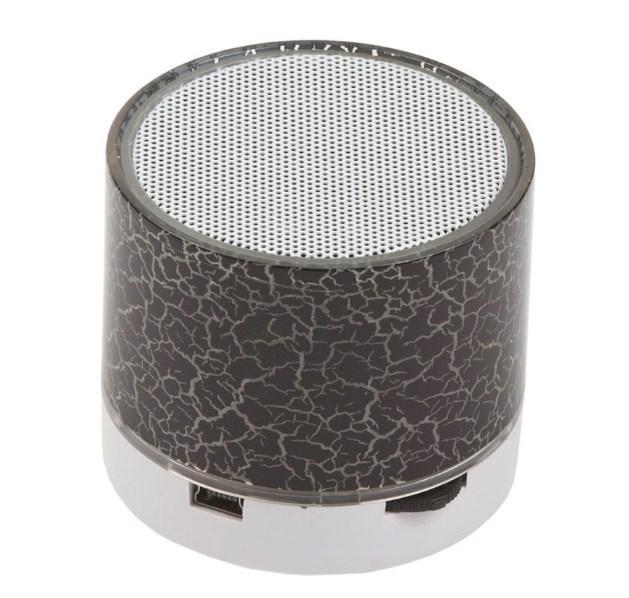 Портативная Bluetooth колонка SPS S60 с LED подсветкой черный