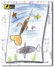 Коврик Детские рыбки