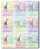 Коврик Жирафики