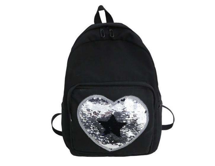 Рюкзак черный с паетками