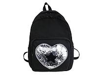 Рюкзак черный с паетками, фото 1