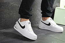 Кроссовки мужские Nike Air Force 1,белые с черным 44р, фото 2