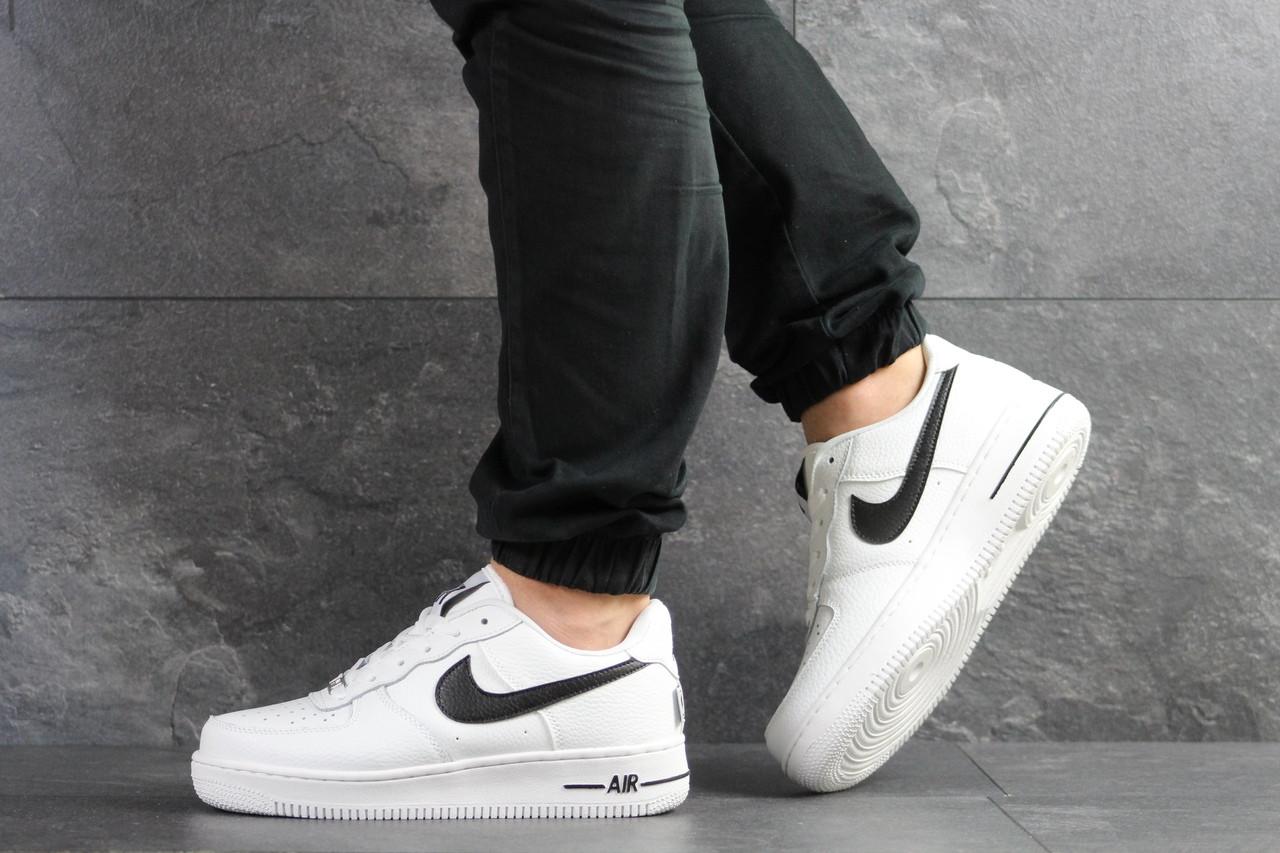Кроссовки мужские Nike Air Force 1,белые с черным 44р