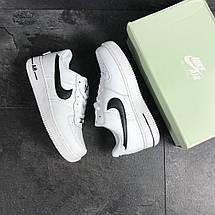 Кроссовки мужские Nike Air Force 1,белые с черным 44р, фото 3