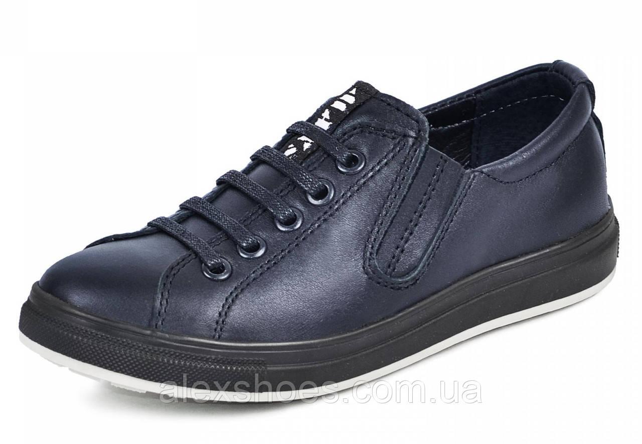 Туфли подростковые для мальчика из натуральной кожи от производителя модель МАК299