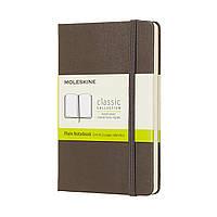 Блокнот Moleskine Classic Карманный (9х14 см) 192 страницы Нелинованный Коричневый (8058341715291), фото 1