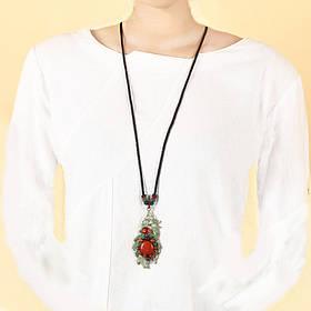 Ретро Листья Длинный Стиль Ожерелье Сплава Ikeramic Свитер Ожерелье Для Женское - 1TopShop
