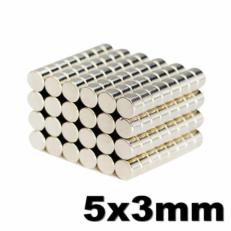 Магниты неодимовые сильные 5x3мм N35 100шт