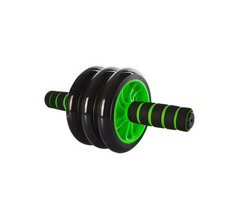Колесо для мышц пресса Profi 3 колеса (MS 0873G) Зеленое, фото 2