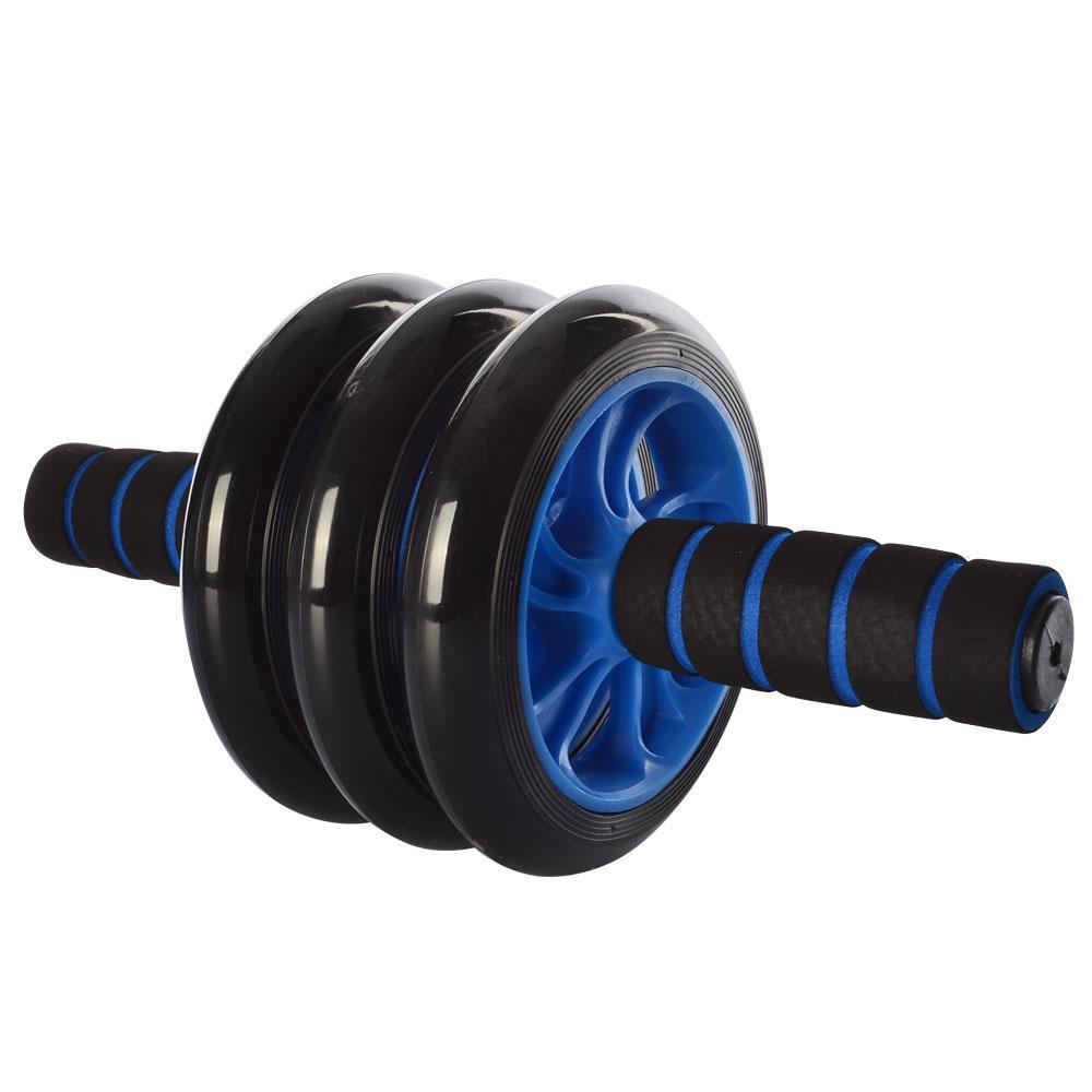 Колесо для мышц пресса Profi 3 колеса (MS 0873B) Синее