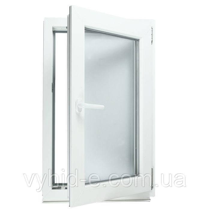Окно металлопластиковое одностворчатое Viknar'off 2-кам, Fenster, 860*1150, поворотно-откидное, Германия, белый