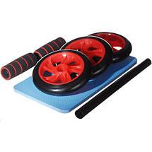 Колесо для мышц пресса (Красное) (3 колеса) MS 0873R, фото 2
