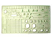 Линейка-трафарет для черчения Спектр ТЧ-1