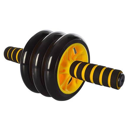 Колесо для мышц пресса (Желтое) (3 колеса) MS 0873Y, фото 2