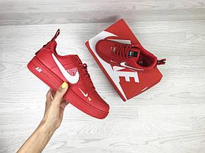Подростковые, женские кроссовки Nike air force 1,красные, фото 3