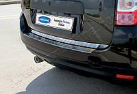 Dacia Duster (2010-) Накладка на задний бампер - Матированный Код:679314296
