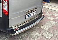Ford Transit Custom (2012-) Накладка на задний бампер - Матированный Код:679314300