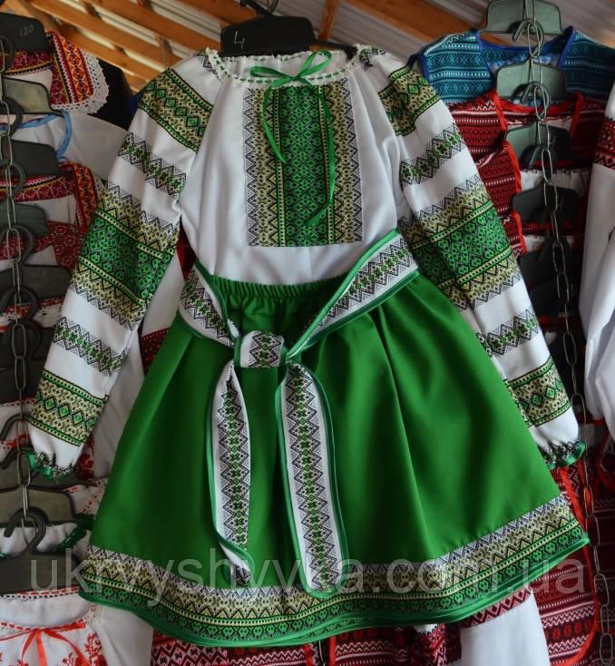 """Вишиваний костюм  """"Соломія"""" зелений"""