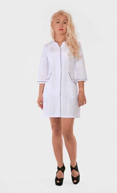 Медицинский халат женский HL 21100 батист 42-60 р
