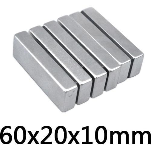 Магнит неодимовый очень сильный 60x20x10мм N35