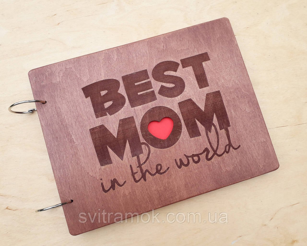 Дерев'яний фотоальбом для Мами