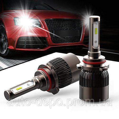ГАРАНТИЯ 2 МЕСЯЦА!!! Автомобильные Светодиодные Лед LED лампы HeadLight 72 Вт 7600LM 6000К 12V COB Цоколь H4