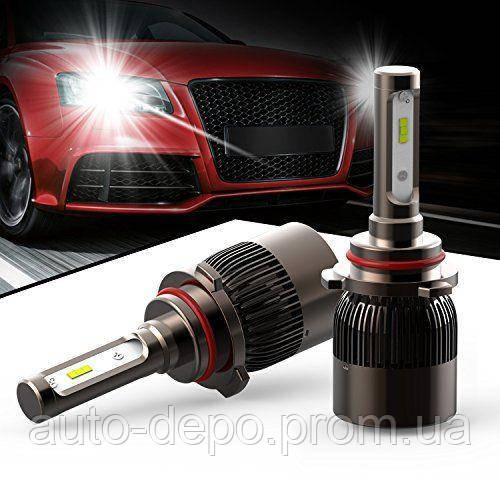 ГАРАНТИЯ 2 МЕСЯЦА!!! Автомобильные Светодиодные Лед LED лампы HeadLight 72 Вт 7600LM 6000К 12V COB Цоколь H7