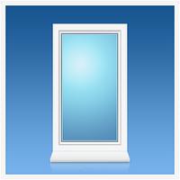 Окно металлопластиковое одностворчатое Viknar'off 2-кам, Megaline, 860*1150, глухое, белый