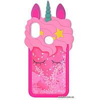 Чехол-накладка TPU 3D (Жидкий Блеск) Little Unicorn для Huawei P Smart Plus / Nova 3i, фото 1