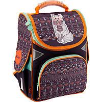Каркасный рюкзак GoPack 34х26х13 см 11 л для девочек Коричневый (GO18-5001S-4), фото 1